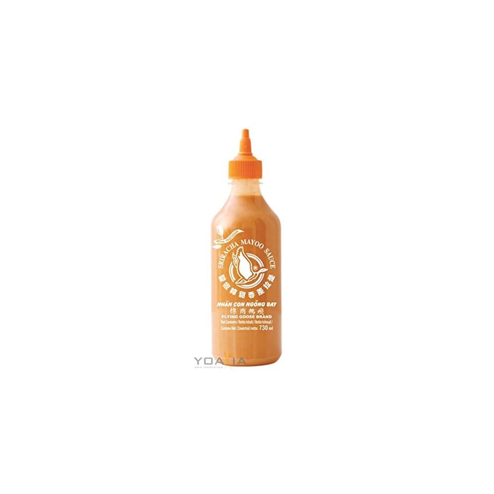 730ml Flying Goose Sriracha Mayoo Sauce Chilicreme Wrzig Scharf