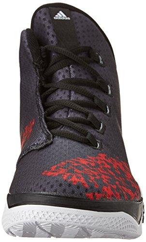 Adidas Performance Lumière Em Up Chaussures 2 de basket-ball, blanc / noir / gris onyx, 6,5 M nous Black/White/Scarlet