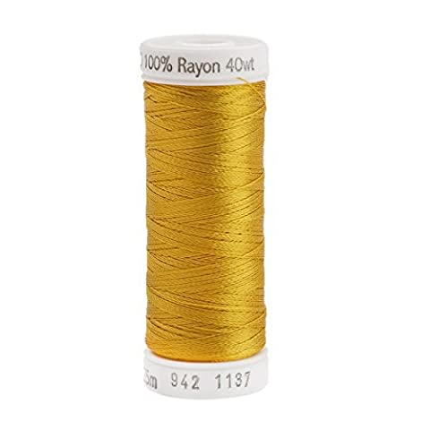 Sulky Rayon Thread for Sewing, 250-Yard, Yellow Orange by Sulky