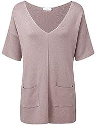 Henri Lloyd Melanie V cuello de punto suéter de la mujer Peach