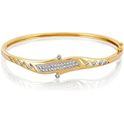 Swasti Jewels American Diamond CZ Fashion Jewellery Traditional Ethnic Bracelet Kada for Women