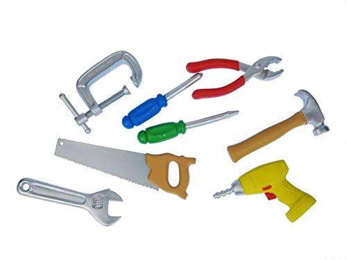 7x-bau-werkzeug-set-miniblings-kunststoff-figur-werkstatt-handwerker-miniatur