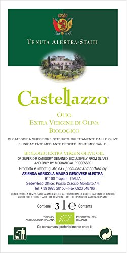 Olio extravergine di oliva biologico castellazzo - latta 3 l