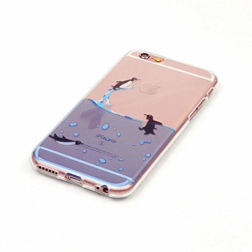 iPhone 6 6S 4.7' Cover Cristallo Custodia Case Silicone Ultra Sottile CassaCaso Bumper HousingconchigliaTrasparente Morbido TPU Gel Shellguscio JINCHANGWU Anti-Graffio Antiurto-- Lunicorno lovely  Ad02
