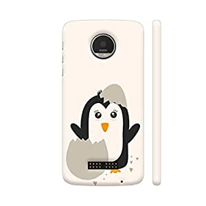 Colorpur Moto Z Cover - Penguin Baby Printed Back Case