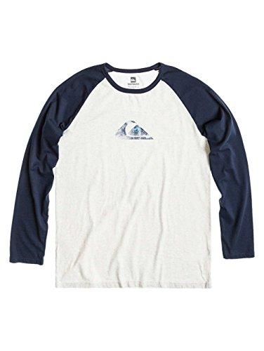 K1 Quiksilver-Maglietta a maniche lunghe, a contrasto Blu blu M