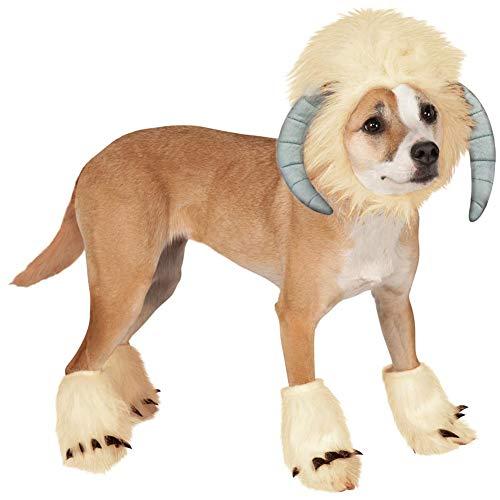 (BeesClover Hunde-/Katzenperücke, lustige Schaf-förmige Kopfbedeckung, für Cosplay, für Hunde, Halloween, Weihnachten, Kostüm, Weiß)
