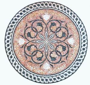 WINDALF Mosaik aus Stein MERCURIA Ø 20 cm UNIKAT Handgearbeitet Naturstein