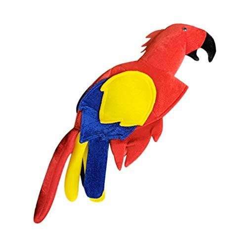 Vogel Kostüm Kopfbedeckung - Amosfun papageienhut plüschtier Vogel Hut Kopfbedeckung