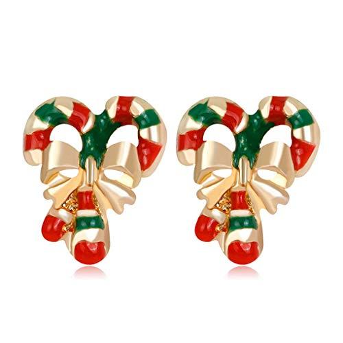 Demino 1 Paar Elegante Frauen-Weihnachtsbaum-Ohrringe reizende Mädchen Funkelnde Rrhinestone Ohrringe Funkelnde Weihnachts Ohrringe Ohrstecker 4