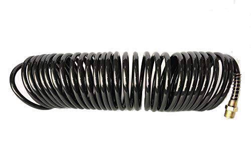 Recoil Luftschlauch Druckluftschlauch 1/4 Zoll Nylon Spiralschlauch 25 Fuß 1/4 NPT Enden schwarz -