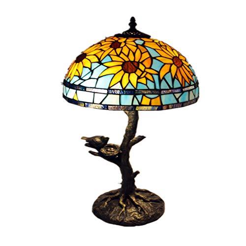 Europäische Tischlampe Schlafzimmer Wohnzimmer Lampe neue kreative Runde Blatt Studie Lampe