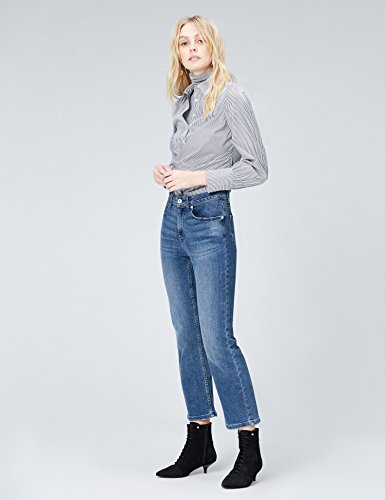 FIND Jeans Flare Corti alla Caviglia Donna Blu (Blau)