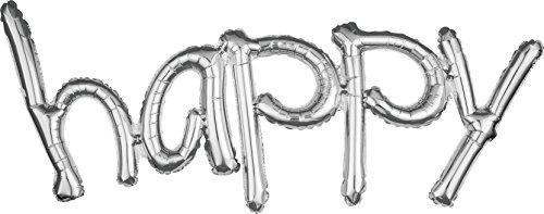 amscan 3670001 Folienballon Freestyle, Happy (Freestyle Kostüm Zu)