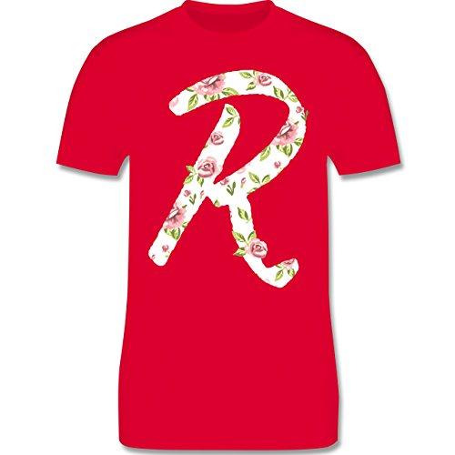 Anfangsbuchstaben - R rosen - Herren Premium T-Shirt Rot