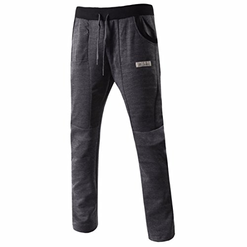 Men's Long Casual Joggers Trousers DimGray