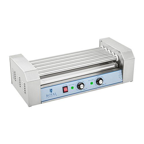 41 ojxXbq3L. SS500  - Royal Catering - RCHG-5E - Hot Dog Grill/Sausage Grill - 5 Heating rods - Protection Cover - 230 V - 1000 W