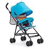 Kinderwagen JL Leichter Faltbarer Stoßdämpfer-Spaziergängerstrand Bequem Und Breathable 0-3 Jähriges Mädchen (Farbe : Blau)