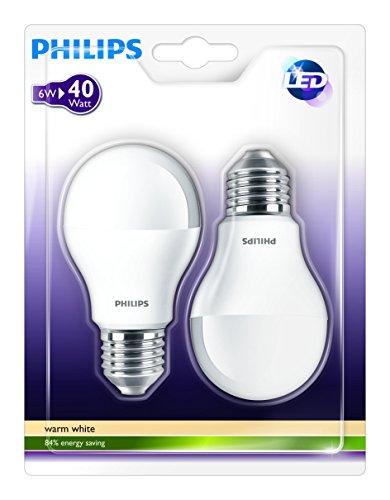 philips led lampe ersetzt 40 watt e27 2700 kelvin warmwei 6 watt 47 8718291763895 philips. Black Bedroom Furniture Sets. Home Design Ideas