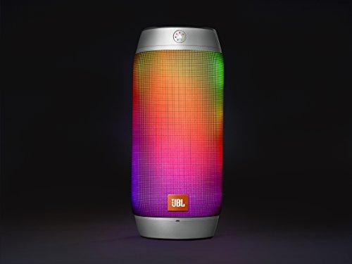 JBL Pulse 2 - Altavoz Bluetooth Portátil a Prueba de Salpicaduras con Juego de Luces Interactivo - Plata