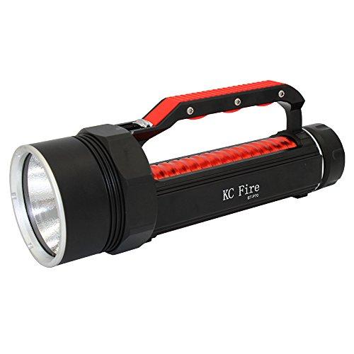 KC Fire LED Tauchen Taschenlampe, nach IP8wasserbeständig, Taschenlampe Sicherheit Licht mit Super Bright 4000Lumen xhp70LED, tragbar und einfach zu tragen, XHP70 Searchlight