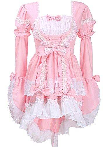 Damen Lolita Gothic Prinzessin Kleid Halloween-Abend Partei cosplay -