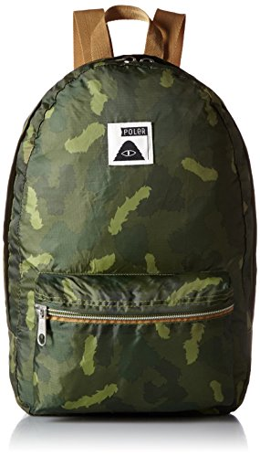 Poler Folding Rucksack Bag, Stuffable Pack, Unisex, Faltbarer Rucksack Bag Stuffable Pack, Green Camo, 50 x 40 x 6 cm, 14 Liter