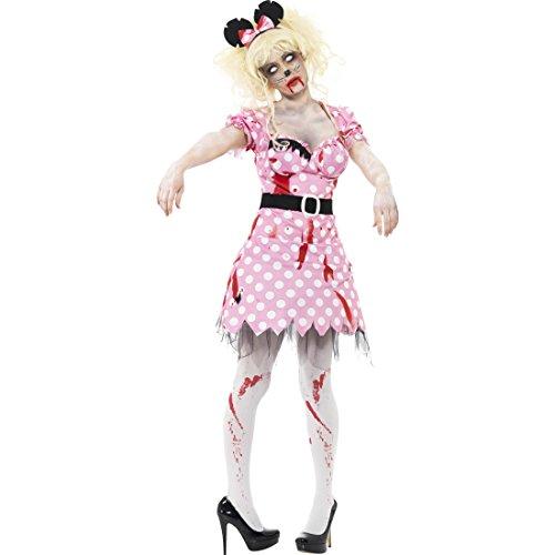 Imagen de vestido ratón zombi  m es 40/42   disfraz rata zombi   traje halloween roedor   disfraz halloween para mujer
