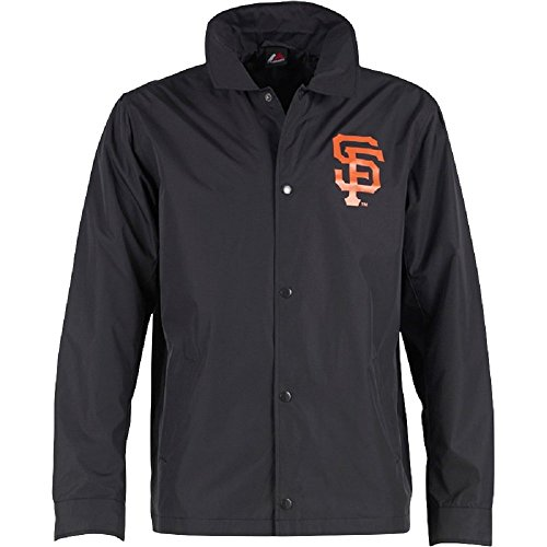 Majestic Athletic da uomo NFL San Francisco Giants Lorde Coaches Nero (Medium)