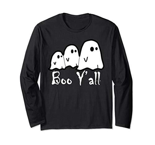 Für Kostüm Erwachsene Boo - Boo Y'all-Ghost Scary Halloween-Kostüm-Pullover Langarmshirt