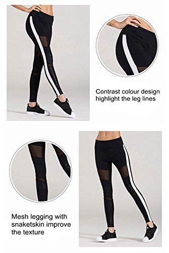 Selighting Pantalon Sport Femme Leggings Yoga Pour Fitness Noir