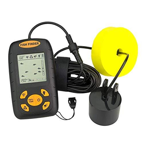 AimdonR Tragbarer Fish Finder LCD-Display Wassertiefen-Temperatur-Fishfinder mit Sonar-Sensor-Sensor Lowrance-temperatur-sensor