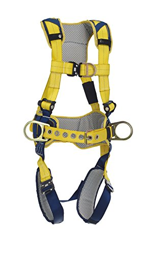 Fall Direct Vent (3M DBI-SALA DeltaComfort 1100519 Fall Arrest Kit with Back/Front/Side D-Rings, Belt with Pad, Quick Connect Buckle Leg/Chest Straps and Comfort Padding, Large, Navy/Yellow by 3M Fall Protection Business)