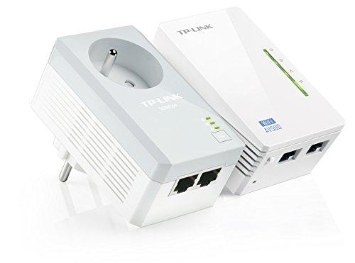 TP-Link CPL AV500 Wi-Fi 300 Mbps, 2 Ports Fast Ethernet, Pack de 2 CPL (TL-WPA4225 KIT)