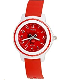 Vizion Analog Red Dial (Doby-The Little Red Panda) Cartoon Character Watch for Kids-V-8829-6-3