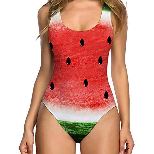 Traje de Baño Mujer 2019 SHOBDW Moda Original Impresion 3D Floral Fruta Bañadores de Mujer Natacion...