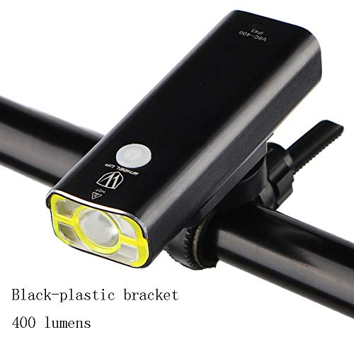 Mhwlai USB wiederaufladbare Fahrradbeleuchtung, Frontlenker Fahrradbatterie Blendung Taschenlampe LED-Taschenlampe Scheinwerfer Fahrradzubehör,A