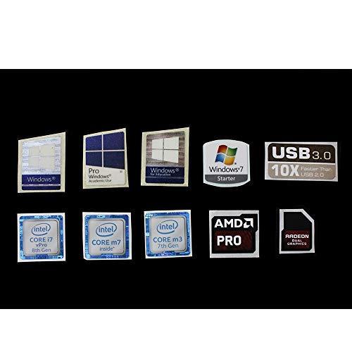 Original Intel Core i7 Aufkleber (7. Generation) NVIDIA GEFORCE GTX, 10 Stück 8 (10pcs) (Aufkleber Windows 7 Laptop)