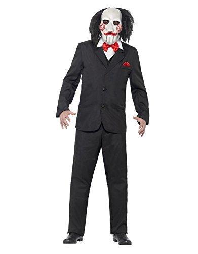 Imagen de disfraz de sierra, para hombre saw jigsaw puppet traje, tamaño mediano, en el pecho 38–40por se