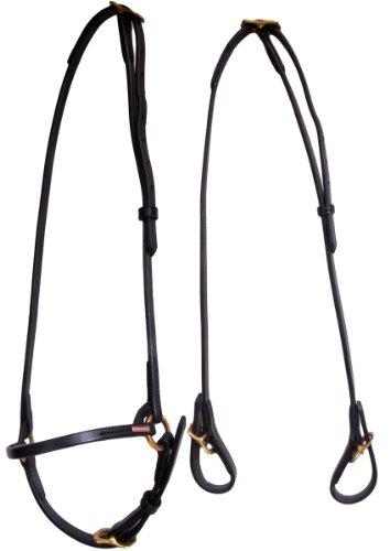 Karlslund Trense Classic Bridle, Black Brass, k307-bla