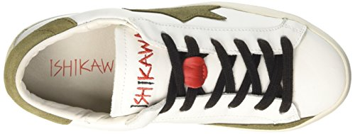 Ishikawa 1203, Sneaker a Collo Basso Unisex-Adulto Bianco