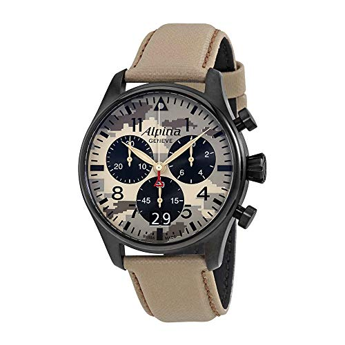 Alpina Startimer Pilot Chronograph Herren-Armbanduhr 372MLY4FBS6