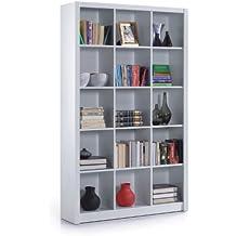 estantera triple con cubo blanco suave y brillanteu por furniture factor