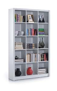 Bibliothèque cube blanc doux brillant Triple–par Meubles Facteur