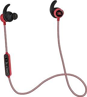 JBL Reflect Mini BT - Auriculares inalámbricos para smartphones y tablets Android/iOS (Bluetooth, resistentes al sudor, cable altamente reflectante, mando de control de 3 botones en línea, micrófono, color rojo (B01738PCUE) | Amazon Products