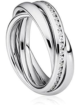 SteelArt by Heideman Damen-Ring Trini mit Swarovski-Steinen Edelstahl poliert