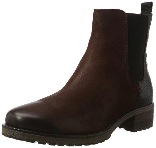 SPM - Maggy Chelsea Boot, Stivali Donna Mehrfarbig (Black/Burgundy)