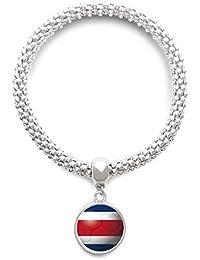 890abffaabe7 DIYthinker Cadena de joyería Costa Rica la Bandera Nacional de fútbol del  fútbol de la Astilla