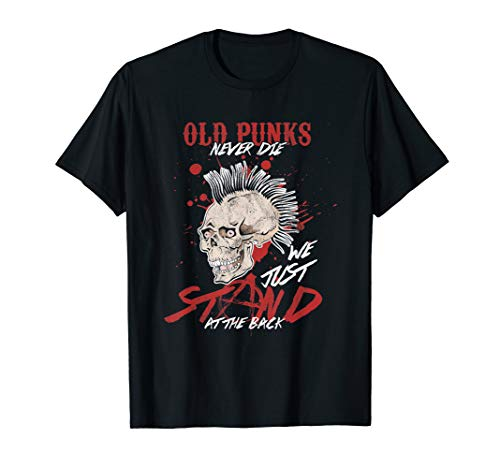 Funny Old Punks Never Die We Just Stand T-Shirt, Men or Women, 5 Colours, S to 3XL
