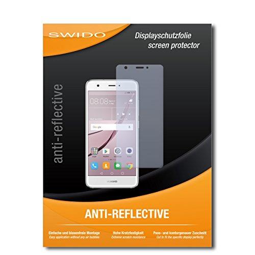 SWIDO Bildschirmschutz für Huawei Nova Dual SIM [4 Stück] Anti-Reflex MATT Entspiegelnd, Hoher Härtegrad, Schutz vor Kratzer/Glasfolie, Schutzfolie, Bildschirmschutzfolie, Panzerglas Folie